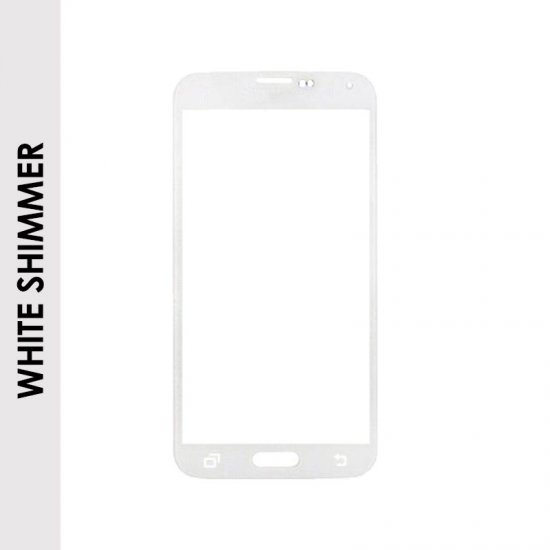 FRONT GLASS FOR SAMSUNG GALAXY S5 (WHITE)